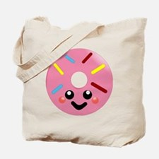 Cute Donut face Tote Bag