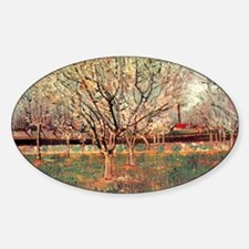 Orchard in Blossom, Plum Trees. Vin Decal