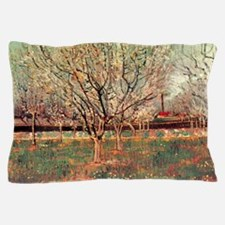 Orchard in Blossom, Plum Trees. Vincen Pillow Case