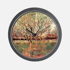 Orchard in Blossom, Plum Trees. Vincent Wall Clock