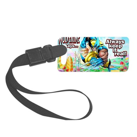 Wolverine In Candyland 001 Small Luggage Tag