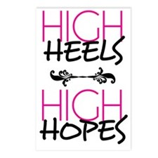 High Heels High Hopes Postcards (Package of 8)