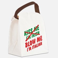 Don't Kiss Me Canvas Lunch Bag