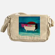 Bathtub Mermaid Messenger Bag