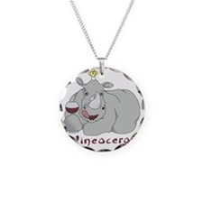Winoceros Necklace Circle Charm