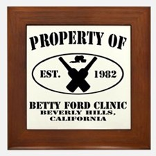 Property of Betty Ford Clinic Framed Tile