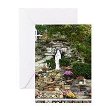 Our Lady of Lourdes Shrine in the Fa Greeting Card