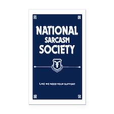 National Sarcasm Society Rectangle Car Magnet