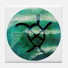 Taino Turtle Symbol Tile Coaster