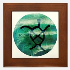 Taino Turtle Symbol Framed Tile