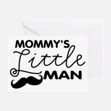 Mommys Little Man Greeting Card
