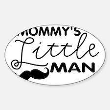 Mommys Little Man Sticker (Oval)
