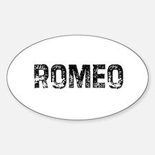 Romeo Oval Decal