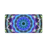 Blue mandala License Plates