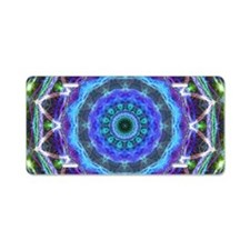 Glowing Star Mandala Aluminum License Plate