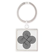 Cherokee Four Directions Square Keychain