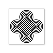 """Cherokee Four Directions Square Sticker 3"""" x 3"""""""