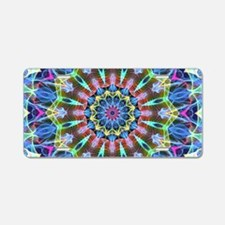 Moving Scrolls mandala Aluminum License Plate