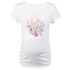 Elegant White Peony Shirt
