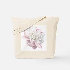 Elegant White Peony Tote Bag