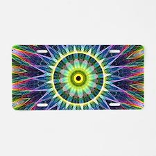 Flower Eye Aluminum License Plate