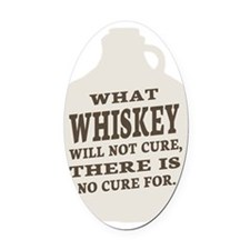 Whiskey (dark) Oval Car Magnet
