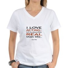 Oscar Wilde Quote on Acting Shirt