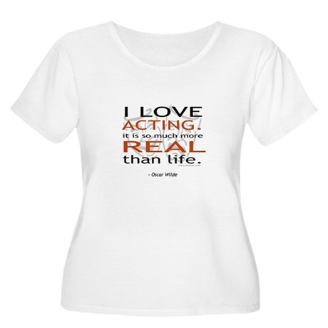 Oscar Wilde Quote on Acting Women's Plus Size Scoo
