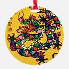 Vintage 1988 China Dragon Zodiac Po Ornament