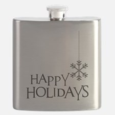 Simple Wishes Happy Holiday Snowflake Flask