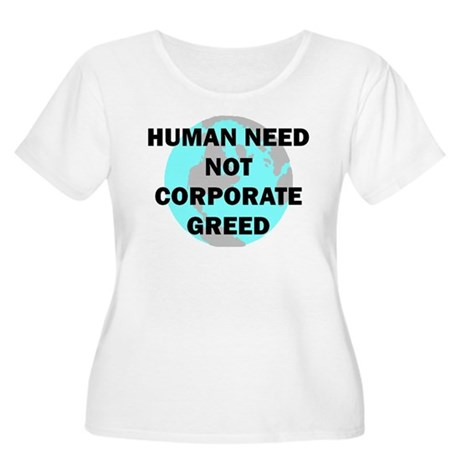 HUMAN NEED Women's Plus Size Scoop Neck T-Shirt