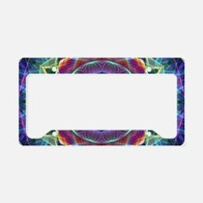 Inward Flower License Plate Holder