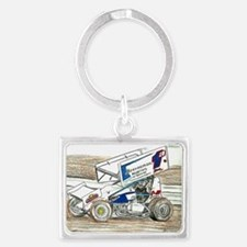 Sprints at Lincoln Landscape Keychain
