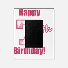 Happy 7th Birthday - Pink Argyle Picture Frame