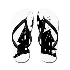 haunted house Flip Flops