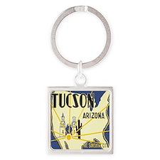Tucson Arizona Square Keychain