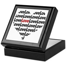 Heart shaped love in red and black Keepsake Box