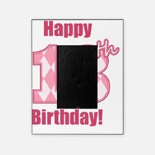 Happy 18th Birthday - Pink Argyle Picture Frame