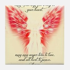 Angels Watch Over You Tile Coaster