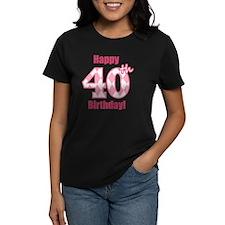 Happy 40th Birthday - Pink Ar Tee