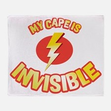 my cape is invisible Throw Blanket