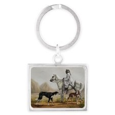 Arabian Bedouin Hunting with Tw Landscape Keychain