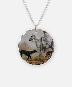 Arabian Bedouin Hunting with Necklace