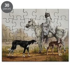 Arabian Bedouin Hunting with Two Salukis Puzzle