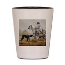 Arabian Bedouin Hunting with Two Saluki Shot Glass