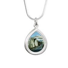BRHalTile Silver Teardrop Necklace