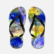 Nature Reflections I - Abstract Gold  B Flip Flops