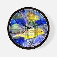 Nature Reflections I - Abstract Gold  B Wall Clock