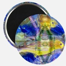 Nature Reflections I - Abstract Gold  Blue  Magnet