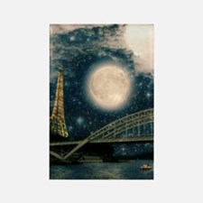 one starry night on paris Rectangle Magnet